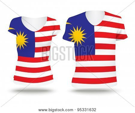 Flag shirt design of Malaysia - vector illustration