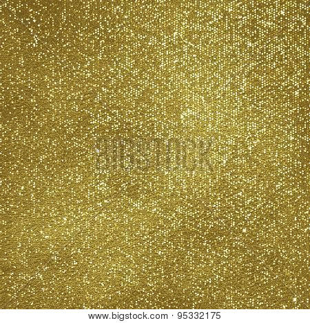 Golden glittering background