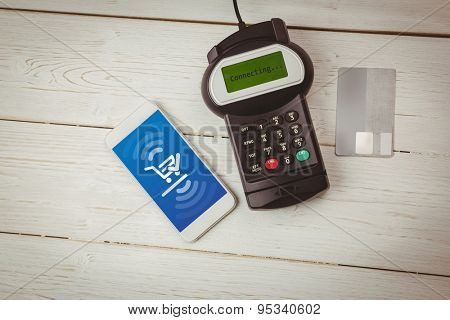 Payment screen against paying with smartphone