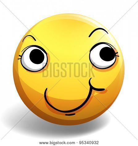 Emoticon of a smiling expression on a white background