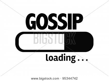 Progress Bar Loading with the text: Gossip