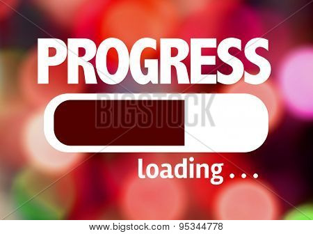 Progress Bar Loading with the text: Progress