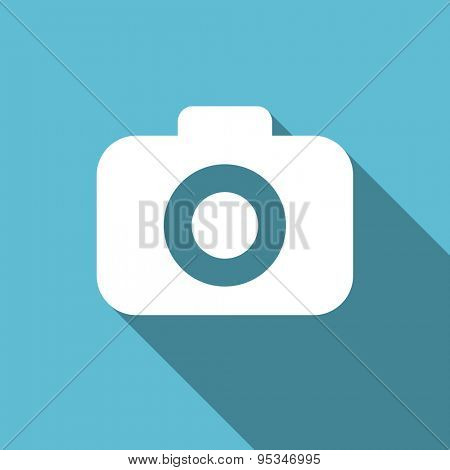 photo camera flat icon photography sign original modern design flat icon for web and mobile app with long shadow