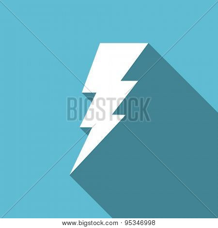 bolt flat icon flash sign original modern design flat icon for web and mobile app with long shadow