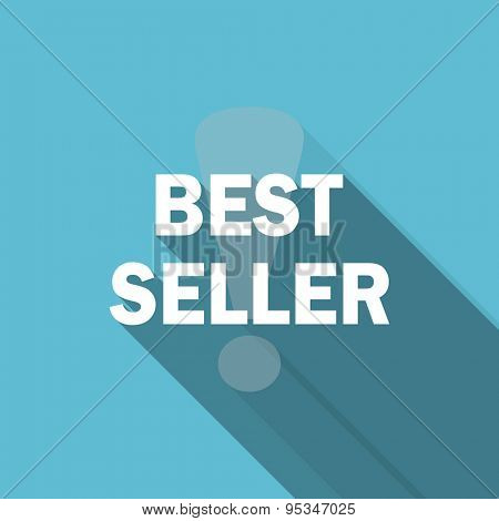 best seller flat icon  original modern design flat icon for web and mobile app with long shadow