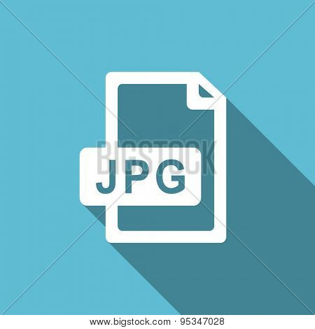 jpg file flat icon  original modern design flat icon for web and mobile app with long shadow