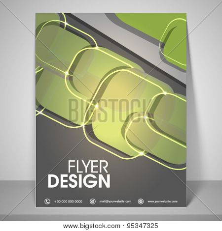 Abstract flyer design for business with address bar, place holder and mailer.