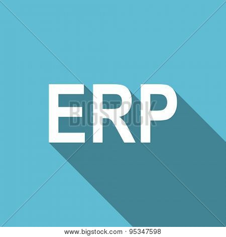 erp flat icon  original modern design flat icon for web and mobile app with long shadow