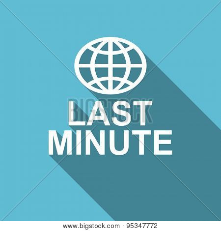 last minute flat icon  original modern design flat icon for web and mobile app with long shadow