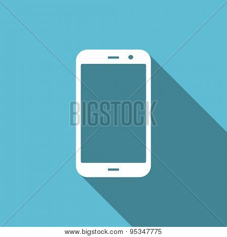 smartphone flat icon phone sign original modern design flat icon for web and mobile app with long shadow