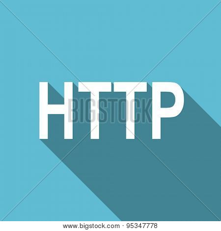 http flat icon  original modern design flat icon for web and mobile app with long shadow