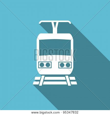 train flat icon public transport sign original modern design flat icon for web and mobile app with long shadow