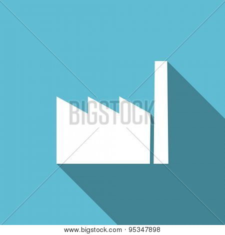 factory flat icon industry sign manufacture symbol original modern design flat icon for web and mobile app with long shadow