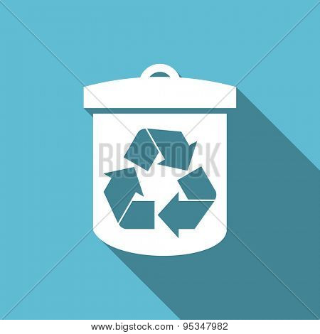 recycle flat icon recycling sign original modern design flat icon for web and mobile app with long shadow