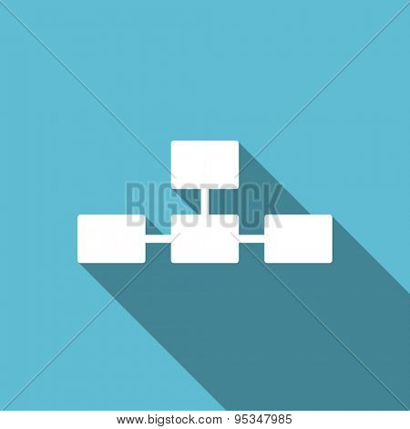 database flat icon  original modern design flat icon for web and mobile app with long shadow
