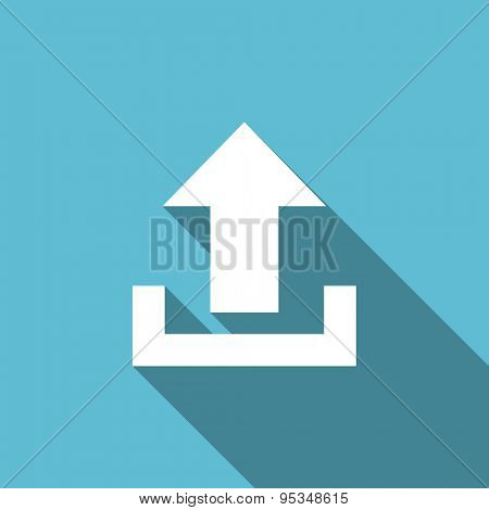 upload flat icon  original modern design flat icon for web and mobile app with long shadow