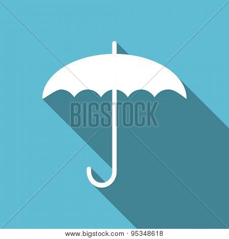 umbrella flat icon protection sign original modern design flat icon for web and mobile app with long shadow