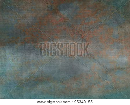 Old Parchment Paper With Grunge Green Tint