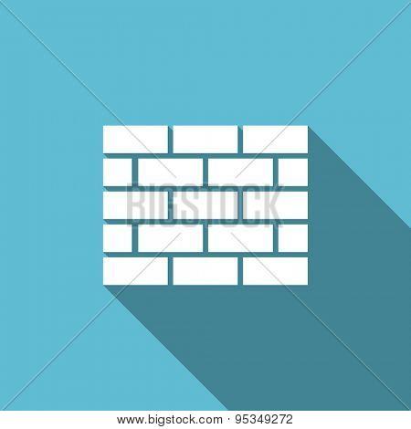 firewall flat icon brick wall sign