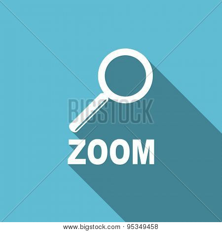 zoom flat icon  original modern design flat icon for web and mobile app with long shadow