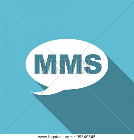 mms flat icon message sign original modern design flat icon for web and mobile app with long shadow