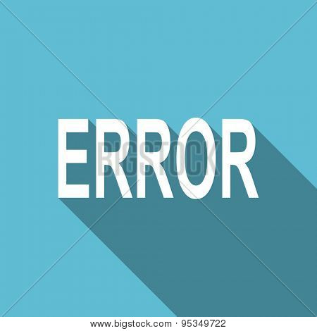 error flat icon  original modern design flat icon for web and mobile app with long shadow