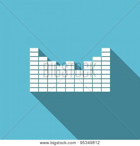 sound flat icon  original modern design flat icon for web and mobile app with long shadow
