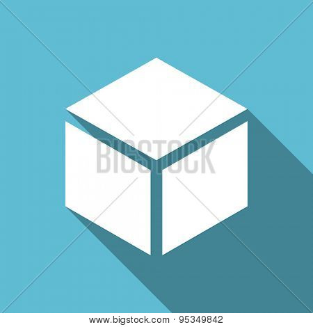 box flat icon  original modern design flat icon for web and mobile app with long shadow