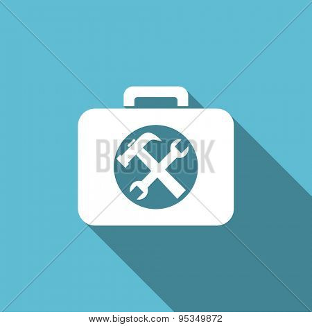 toolkit flat icon service sign original modern design flat icon for web and mobile app with long shadow