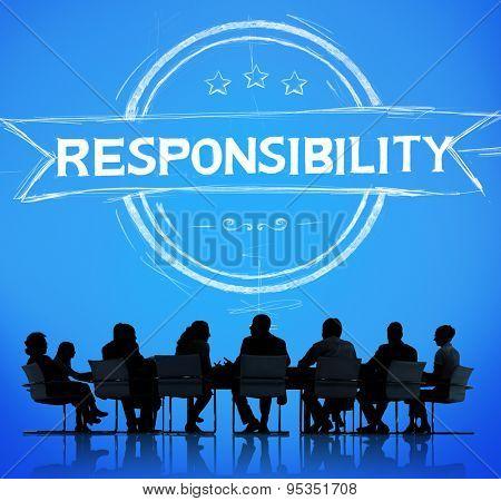 Responsibility Reliability Trust Liability Trustworthy Concept