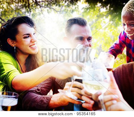 Friends Friendship Outdoor Chilling Togetherness Concept