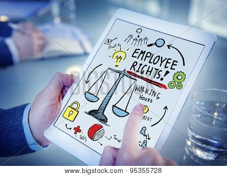Employee Rights Employment Equality Job Office Browsing Concept