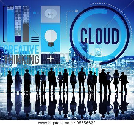 Cloud Cloud Computing Cloud Networking Data Storage Concept