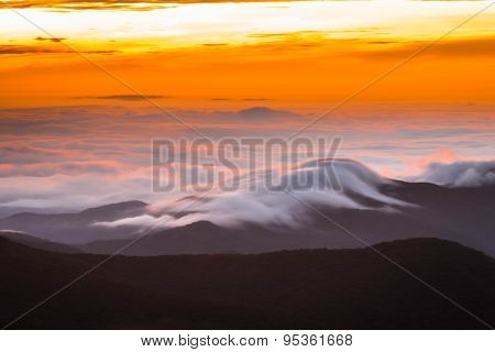 Amazing Blue Ridge Mountains Sunrise