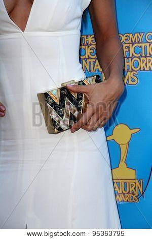 BURBANK - JUNE 25: Lindsey Morgan arrives at the 41st Annual Saturn Awards on Thursday, June 25, 2015 at the Castaway Restaurant in Burbank, CA.
