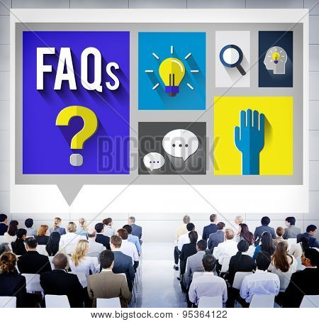 Frequently Asked Questions Help Information Answer Concept