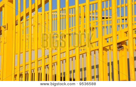 Bright Yellow Stair Railing