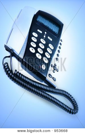 Telephone On Blue Background
