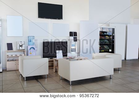 Serpuhov, Russia, June, 2015: rest spot of clients in a dealer's showroom in Serpuhov, Russia