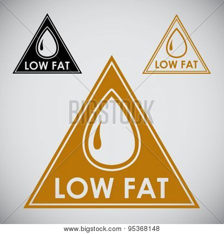 Low Fat triangular Icon Seal