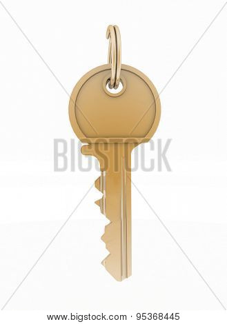 Key from house isolated on white background