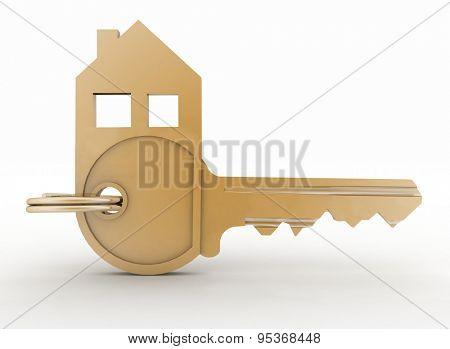 3d model symbol house key