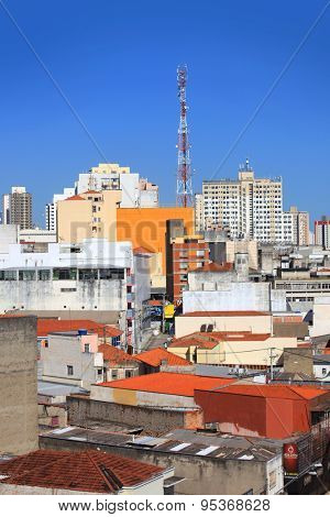 SOROCABA, BRAZIL - DECEMBER 08: Downtown Sorocaba in Brazil on December 08, 2014 in Sorocaba. Eighth largest city in Sao Paulo state, It exports to over 115 countries, with an income of $370m yearly