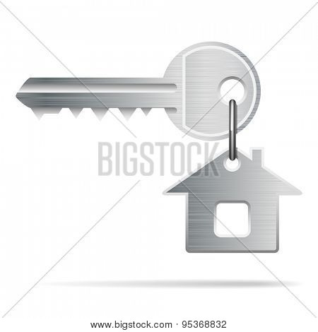 House Key isolated on white. Illustration
