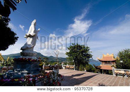 Nui Mot pagoda in Con Dao island, Vietnam