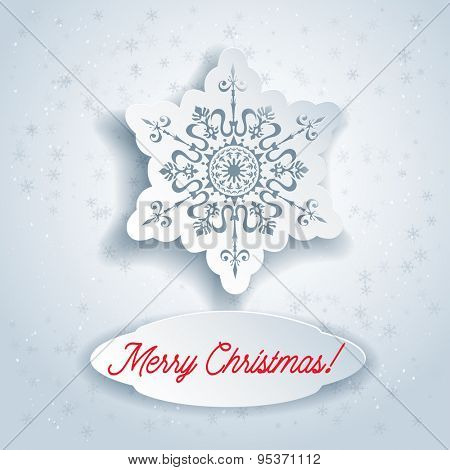 Beautiful snowflake. Holiday Christmas card