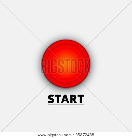Red Start Button Vector Background