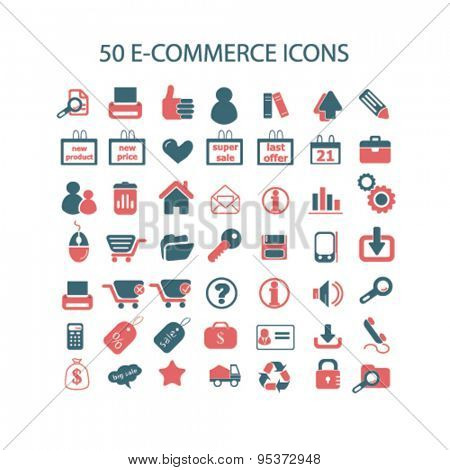 e-commerce, retail isolated vector icons