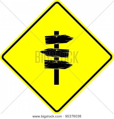 wooden arrows sign