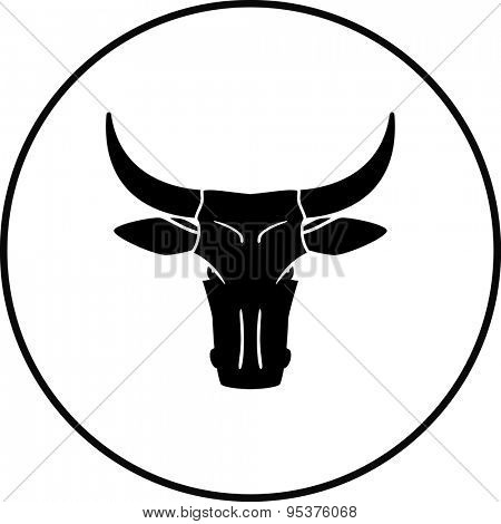 cow or bull head symbol